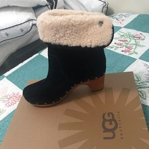 Ugh boot platform heel